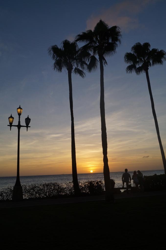 O por do sol imperdível (e SEM FILTRO!) de Aruba...